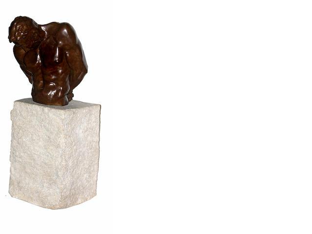 John Sisko (American, born 1958) Minotaur III: Bound, 1994 25 3/4 x 11 x 10in