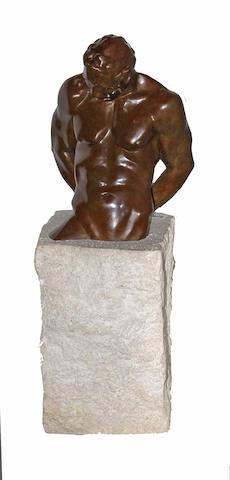 John Sisko (American, born 1958) Minotaur I: Emerging, 1994 28 x 9 x 10in