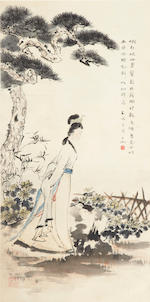 Shen Zicheng (1904-1996) Two paintings of Figures