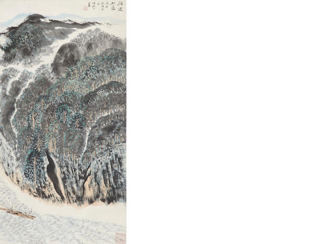 Lu Yanshao, Forest in Fujian, hanging scroll, ink and color on paper