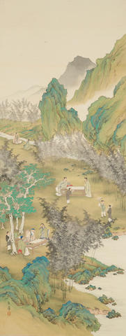 A Chinese scroll, landscape