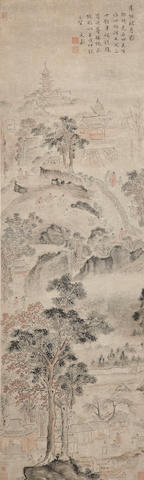 Attributed to Wen Jia  Autumn Moon over Tiger Hill