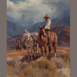 Suzanne Baker (American, born 1939) Mountain ride 34 x 28 1/4in