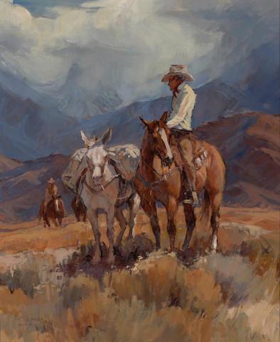 Suzanne Baker (American, born 1939) Mountain ride 34 x 28 1/4in