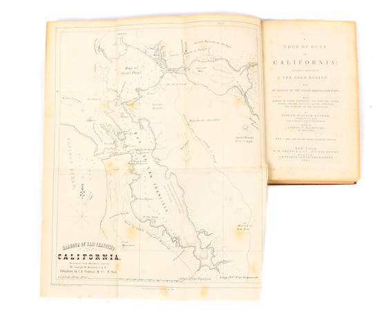 REVERE, JOSEPH WARREN.  A Tour of Duty in California; Includes a Description of the Gold Region: and an Account of the Voyage Around Cape Horn; with Notices of Lower California, the Gulf And Pacific Coasts, and the Principal Events Attending the Conquest of the Californians.    New York: C.S. Francis and Co., 1849.