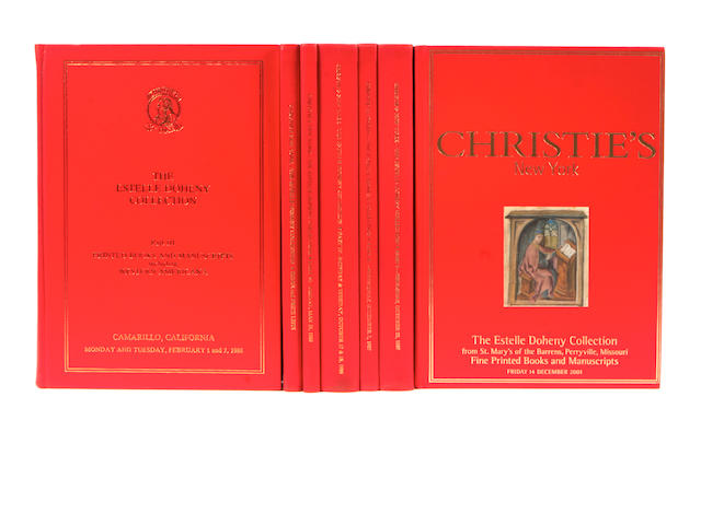 DOHENY COLLECTION  AUCTION CATALOGUES. The Doheny Collection of fine Printed Books And Manuscripts. New York: Christie's, 1987-88; 2001.