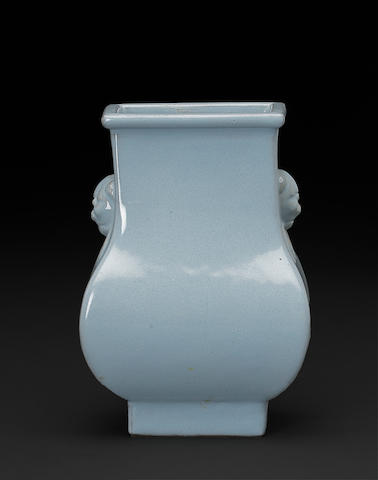 A small 'Yijun' glazed stoneware vase Wu Deshen factory mark, Republic period