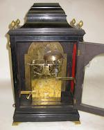 A George III gilt bronze mounted ebonized wood bracket clock  <BR />dial signed Thomas Wilmer, London<BR />third quarter 18th century