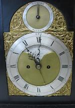 A George III gilt bronze mounted ebonized wood bracket clock  dial signed Thomas Wilmer, London third quarter 18th century