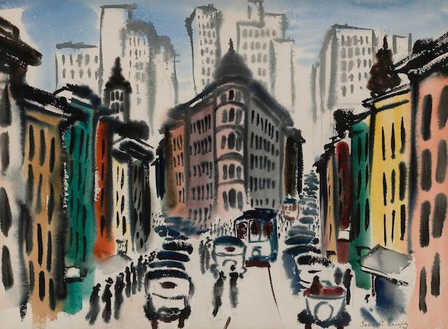 Thomas E. Lewis (American, 1909-1979) The Flatiron building, 1936 22 x 29 3/4in