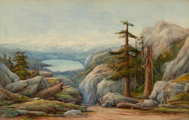 John Joseph Ivey (American, 1842-1910) A view of Donner Lake