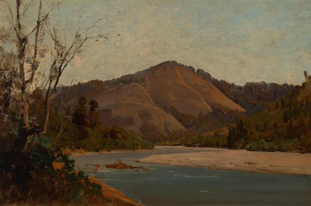 Thomas Hill (American, 1829-1908) Thought to be the Russian River 12 x 18in