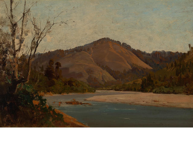 Thomas Hill (American, 1829-1908) Thought to be Russian river 12 x 18in