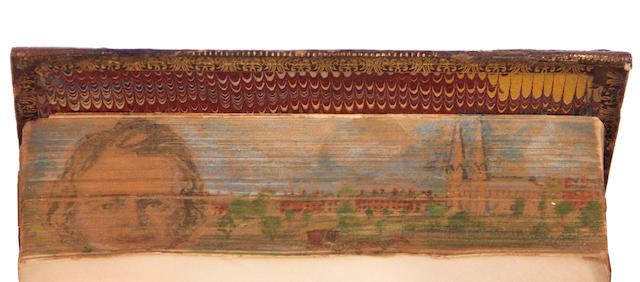 FORE-EDGE PAINTING. LONGFELLOW, HENRY WADSWORTH. Poems. Boston: Ticknor and Fields, 1866.
