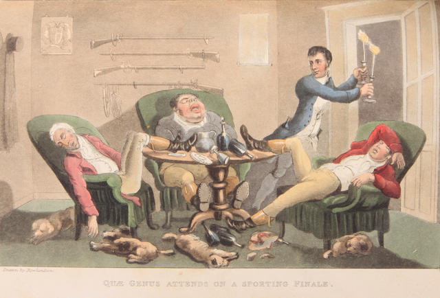 ROWLANDSON, THOMAS, illustrator. COMBE, WILLIAM. The History of Johnny Quae Genus. London: R. Ackermann, 1822.