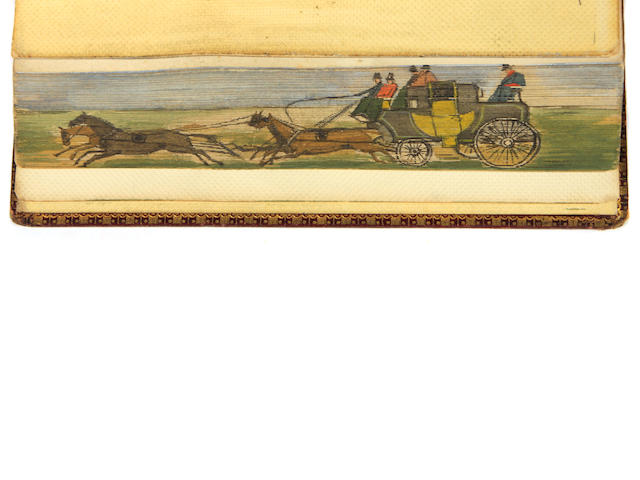 FORE-EDGE PAINTING.  CAMPBELL, THOMAS. Gertrude of Wyoming, and Other Poems. London: Longman, Hurst et al., 1819.
