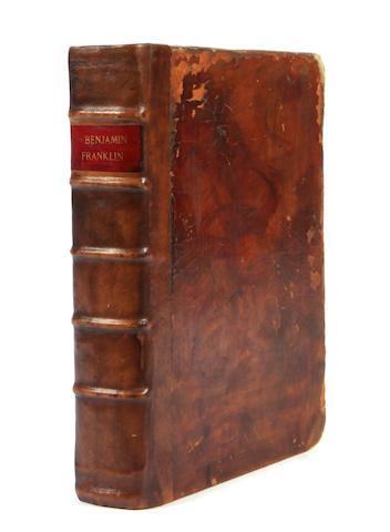FRANKLIN, BENJAMIN. Oeuvres de M. Franklin.... Paris: Chez Quillau, Esprit, et L'Auteur, 1773.