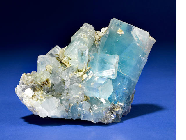 Aquamarine and Muscovite specimen