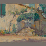 Alson Skinner Clark (1876-1949) Old Pasadena doorway, 1928 15 1/4 x 18 1/4in