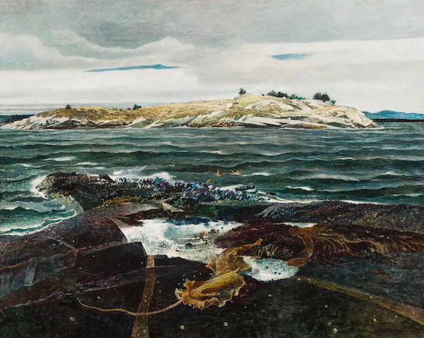 Andrew Wyeth (American, 1917-2009) Little Caldwell's Island, 1940 32 x 40in