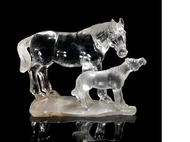 Two Quartz horses
