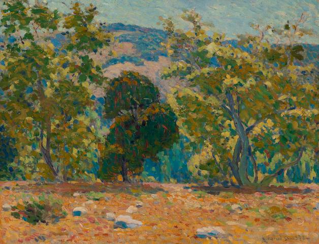 Edwin Roscoe Shrader (American, 1878-1960) California landscape, La Cañada 20 x 26in