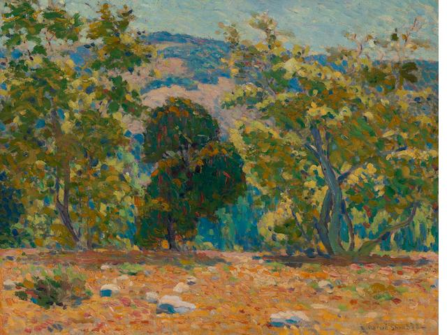 Edwin Roscoe Shrader (American, 1878-1960) California landscape, La Canada 20 x 26in