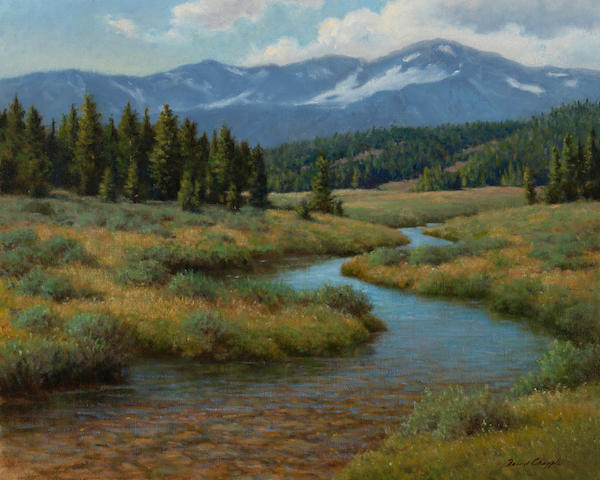 David Chapple (American, born 1947) Alpine meadow 24 x 30in