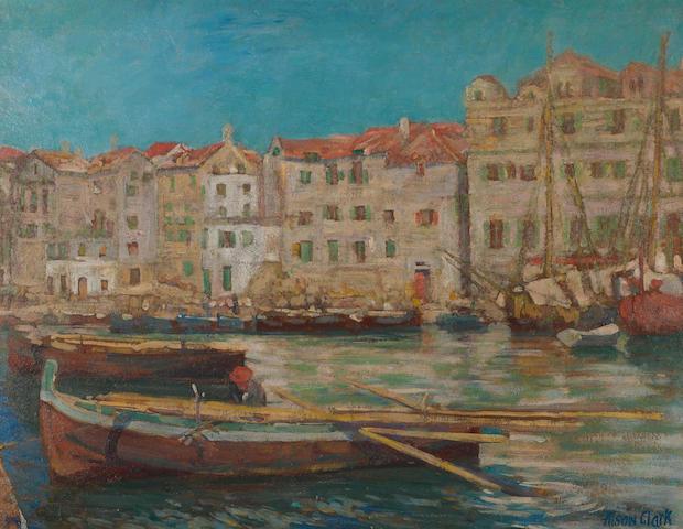 Alson Skinner Clark (1876-1949) Genoa, 1904 14 x 18in