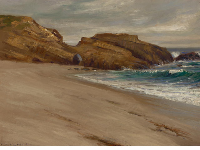 Frank William Cuprien (American, 1871-1948) Arch beach, Christmas, 1917 16 x 22in