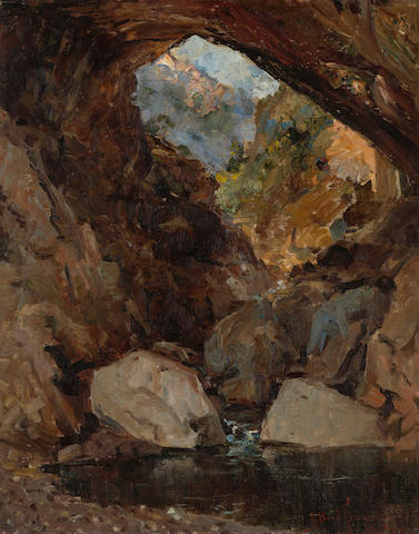 John Bond Francisco (American, 1863-1931) Tonto's bridge, Arizona 20 x 16in