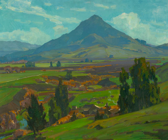 William Wendt (American, 1865-1946) Landscape near San Luis Obispo 30 1/4 x 36in