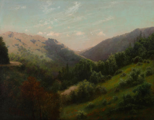 Charles Dormon Robinson (American, 1847-1933) White Hills Canyon, Marin County, 1907 28 1/4 x 36 1/4in