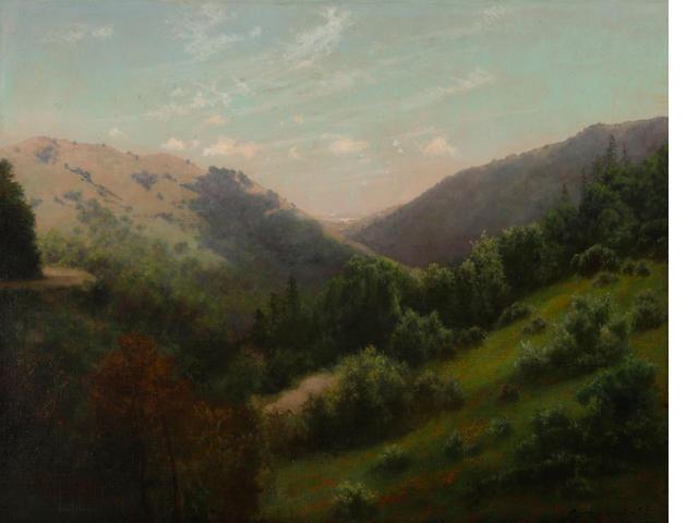 Charles Dormon Robinson (American, 1847-1933) White Hills Canyon, Marin County, 1907 28 1/4 x 36 1/4in