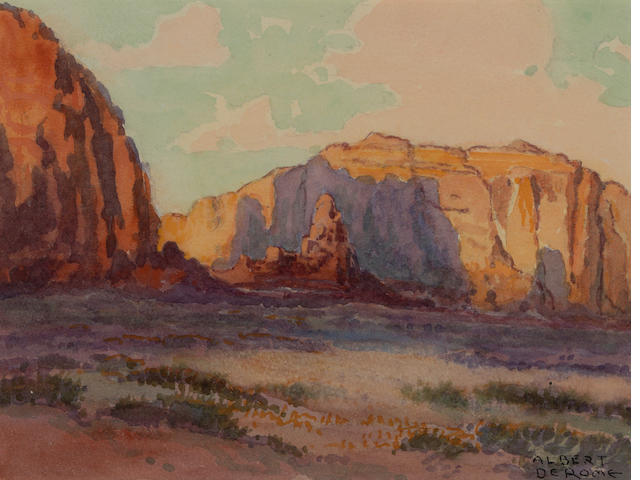 Albert DeRome, Sunset Monument Valley near Utah