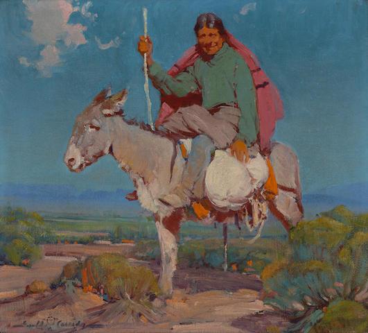Ira Diamond Gerald Cassidy (American, 1879-1934) Isleta traveler, 1922 18 x 20in