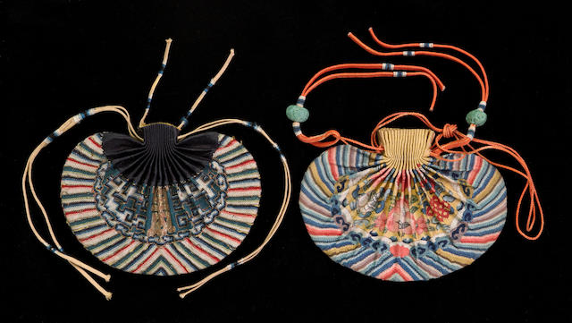 Two kesi woven purses 18th/19th century