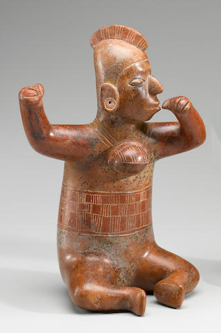 Colima Seated Shaman,<BR />Protoclassic, ca. 100 B.C. - 250 A.D.