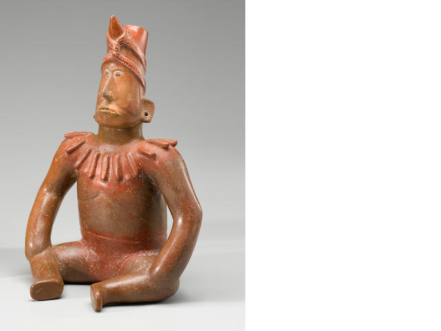 Colima Seated Shaman,<BR />Protoclassic, ca. 100 B.C. - A.D. 250