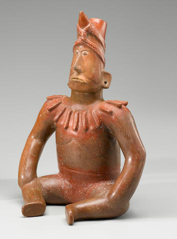 Colima Seated Shaman,<BR />Protoclassic, ca. 100 B.C. - A.D. 250