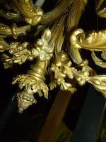 A Louis XVI style gilt bronze six light chandelier late 19th century