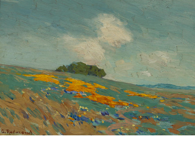 Granville Redmond (American, 1871-1935) California wildflowers 5 x 7in
