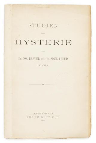 FREUD, SIGMUND. 1856-1939, & JOSEF BREUER. 1842-1925. Studien über Hysterie [Studies in Hysteria]. Leipzig & Vienna: Franz Deuticke, 1895.