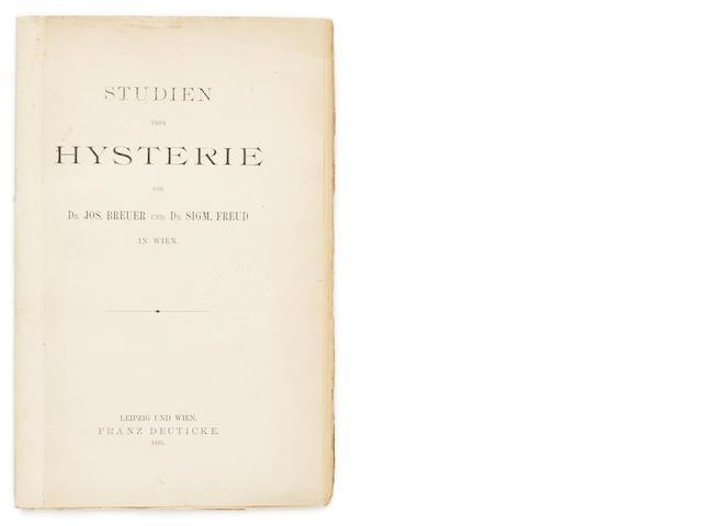 FREUD, SIGMUND & JOSEF BREUER.  Studien über Hysterie [Studies in Hysteria]. Leipzig & Vienna: Franz Deuticke, 1895.<BR />