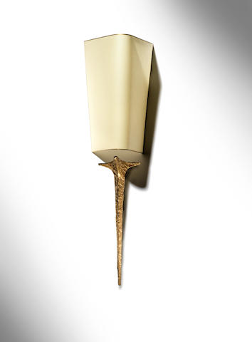 Felix Agostini A Squale Applique circa 1960  gilt bronze  Height of bronze: 21 1/6 in. 53.5 cm.