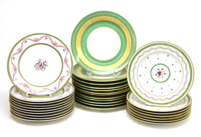 A group of twenty-nine Limoges porcelain plates