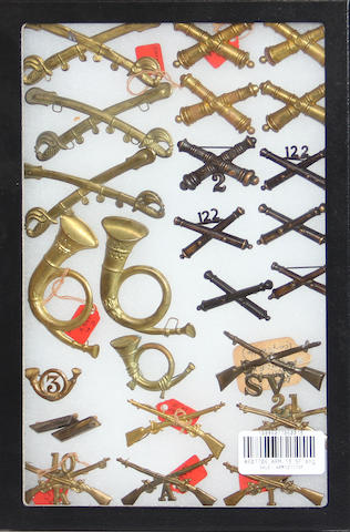 A lot of Civil War and post-Civil War military insignia