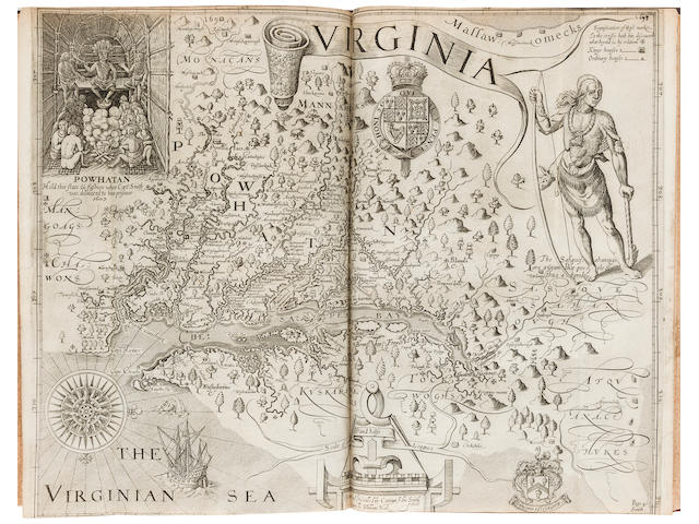 PURCHAS, SAMUEL. 1575?-1626. Purchas his Pilgrimes. WITH: Purchas His Pilgrimage.... London: printed by Willam Stansby for Henrie Fetherstone, 1625-1626.