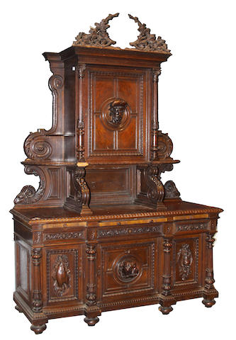 A Continental Renaissance Revival oak buffet