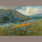 Percy Gray (1869-1952) Berkeley Hills, Claremont 10 x 14in